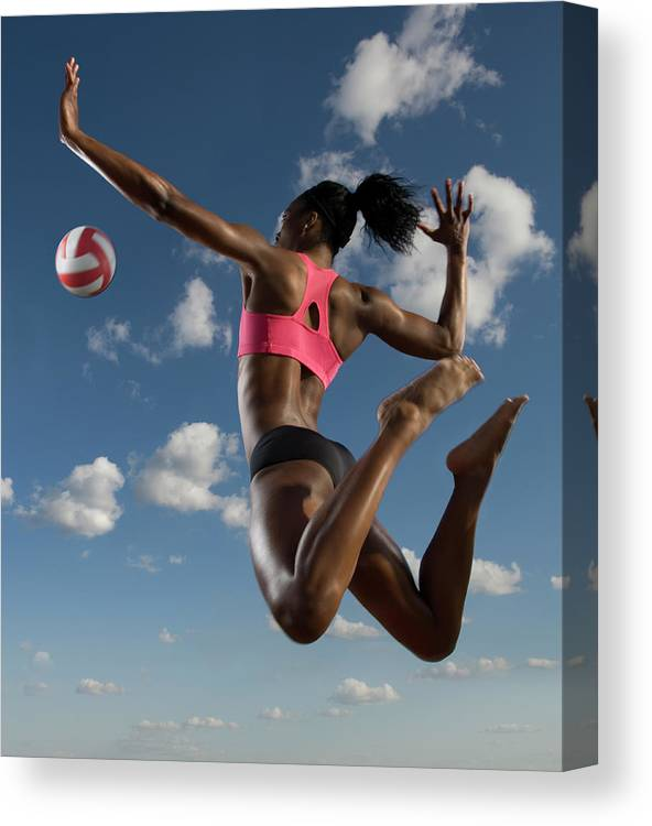 Human Arm Canvas Print featuring the photograph Volleyball Spike by Pete Saloutos