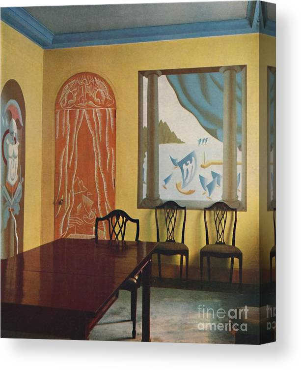 Art Canvas Print featuring the drawing Wall Decorations In A Flat At Portman by Print Collector