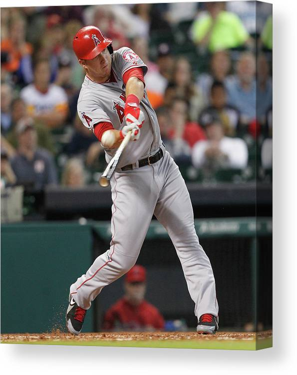 People Canvas Print featuring the photograph Mike Trout by Bob Levey