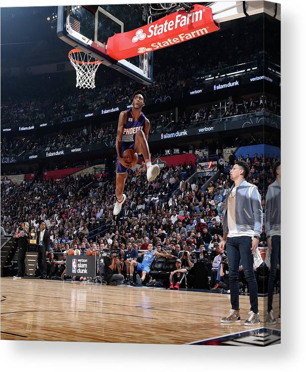 Event Canvas Print featuring the photograph Derrick Jones by Nathaniel S. Butler