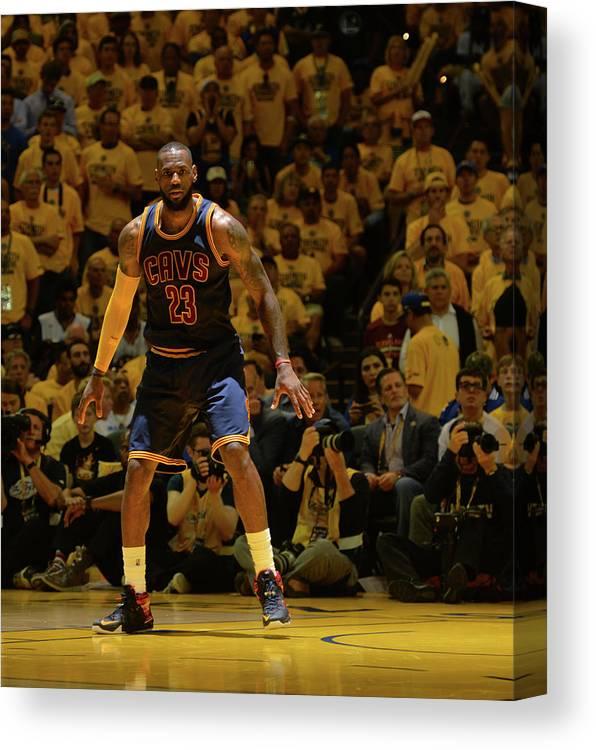 Playoffs Canvas Print featuring the photograph Lebron James by Jesse D. Garrabrant