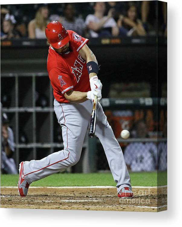People Canvas Print featuring the photograph Albert Pujols by Jonathan Daniel