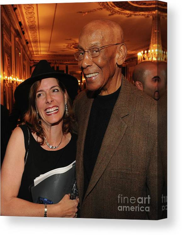 Music Canvas Print featuring the photograph Ernie Banks by Rick Diamond