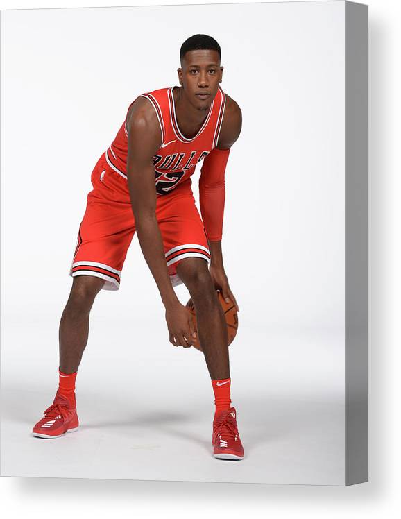 Media Day Canvas Print featuring the photograph Kris Dunn by Randy Belice