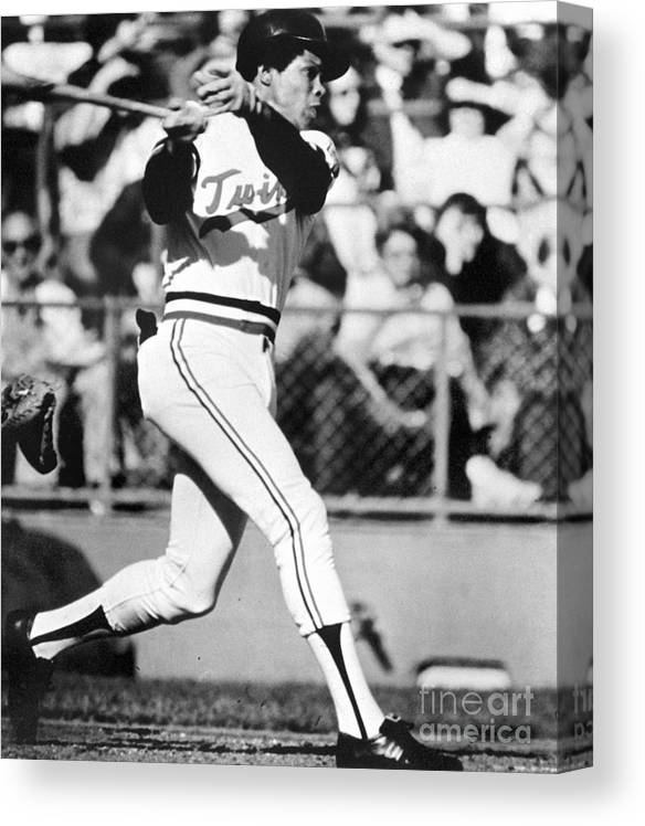 American League Baseball Canvas Print featuring the photograph Rod Carew by National Baseball Hall Of Fame Library