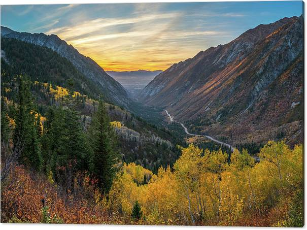 Fall Sunset in Little Cottonwood Canyon by James Udall