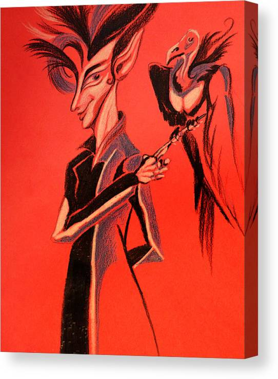 Limited Time Promotion: Vulture Man Stretched Canvas Print