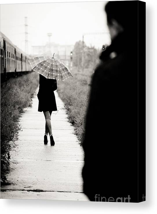 Limited Time Promotion: Walking Away Stretched Canvas Print