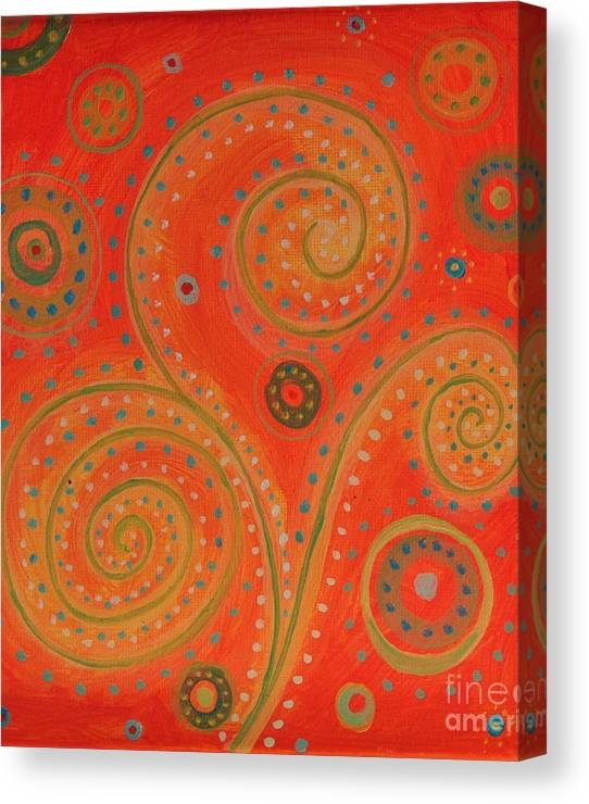 Limited Time Promotion: Cosmic Flower Stretched Canvas Print by Eli Maytham