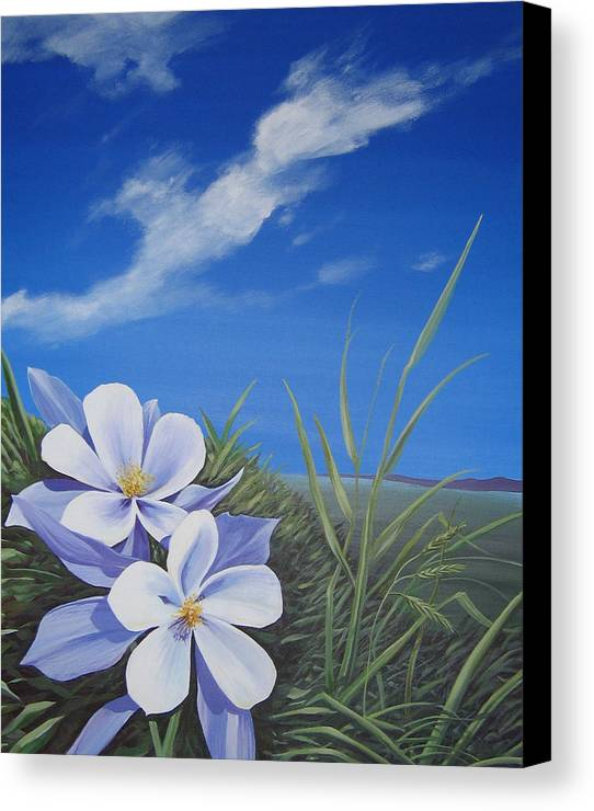 Landscape Canvas Print featuring the painting Afternoon High by Hunter Jay