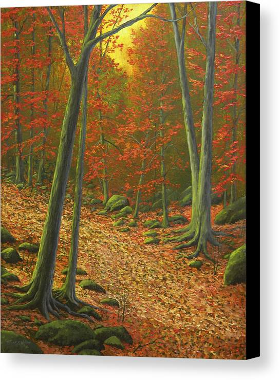 Autumn Leaf Litter Canvas Print featuring the painting Autumn Leaf Litter by Frank Wilson