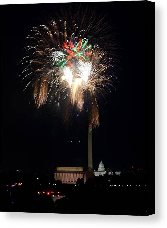 4th Of July Canvas Print featuring the photograph America's Party by David Hahn
