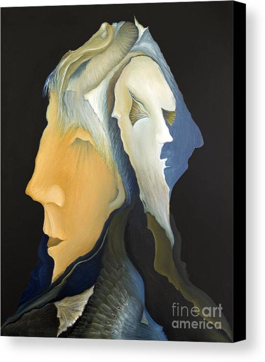 Sensual Canvas Print featuring the painting Facets by Joanna Pregon
