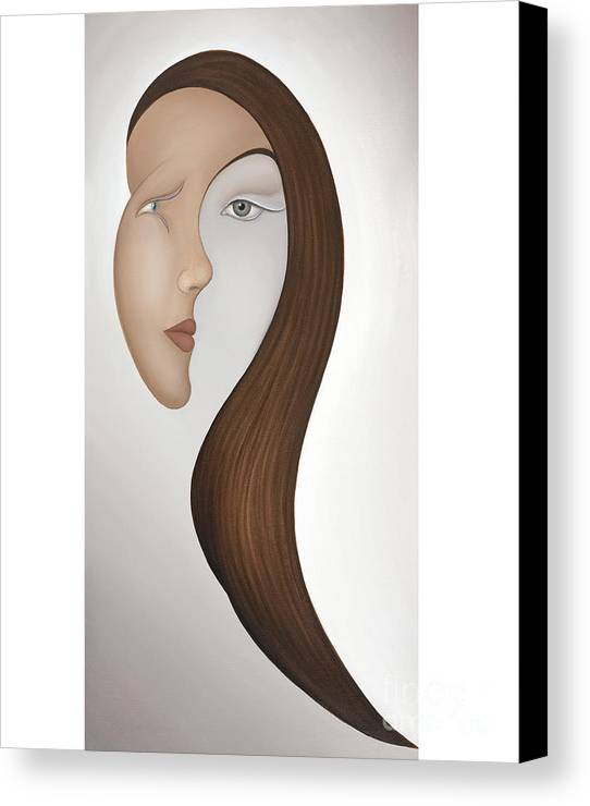 Sensual Canvas Print featuring the painting Insight by Joanna Pregon