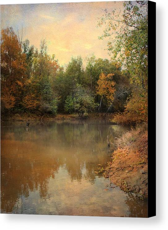 Autumn Canvas Print featuring the photograph Riverbank 2 by Jai Johnson