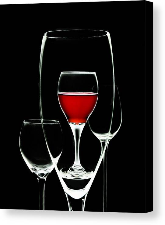 Wine Canvas Print featuring the photograph Glass Of Wine In Glass by Tom Mc Nemar