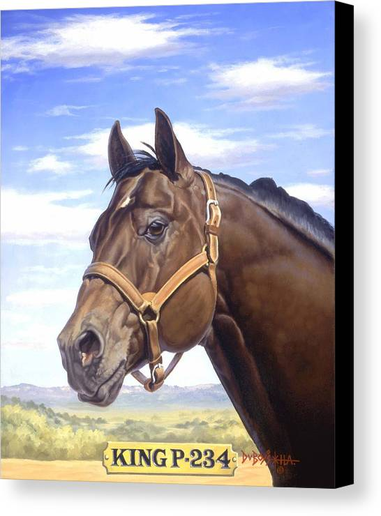 Quarter Horse Canvas Print featuring the painting King P234 by Howard Dubois