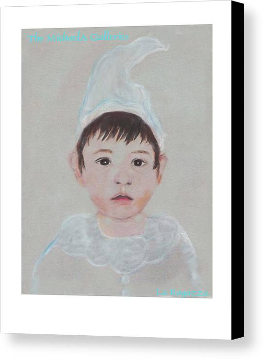 Child Canvas Print featuring the painting La Ragazza by Michela Akers