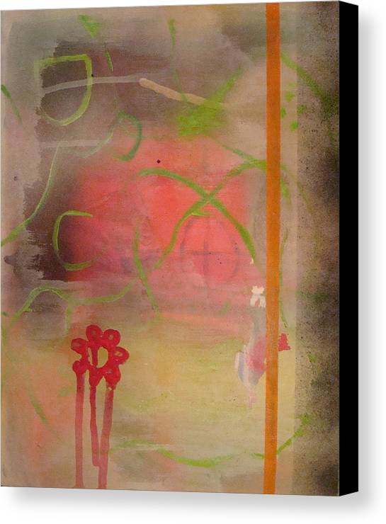 Modern Abstract Canvas Print featuring the painting Weeping Flower by W Todd Durrance