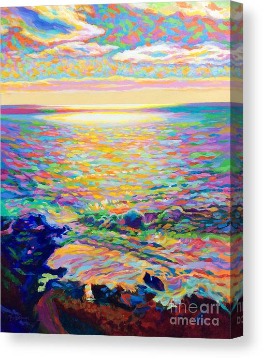 Ocean Canvas Print featuring the painting Gleam by David Friedman