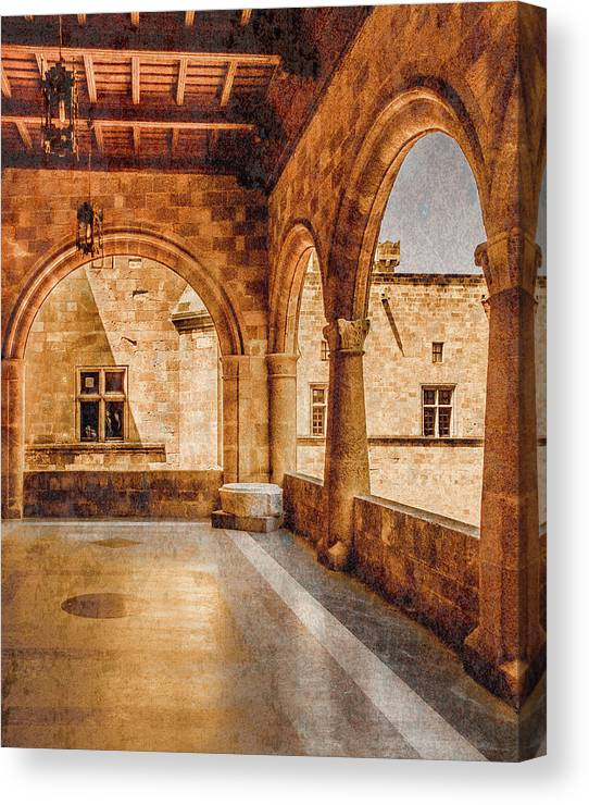 Rhodes Canvas Print featuring the photograph Rhodes, Greece - Loggia by Mark Forte