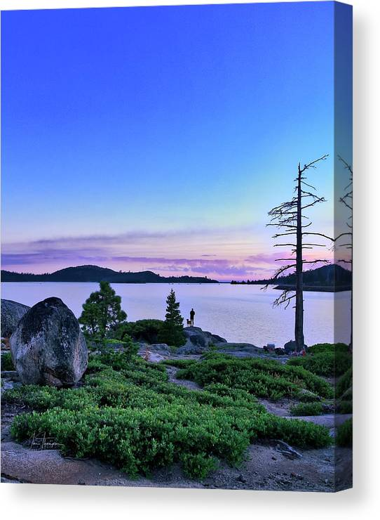 California Canvas Print featuring the photograph Man And Dog by Jim Thompson
