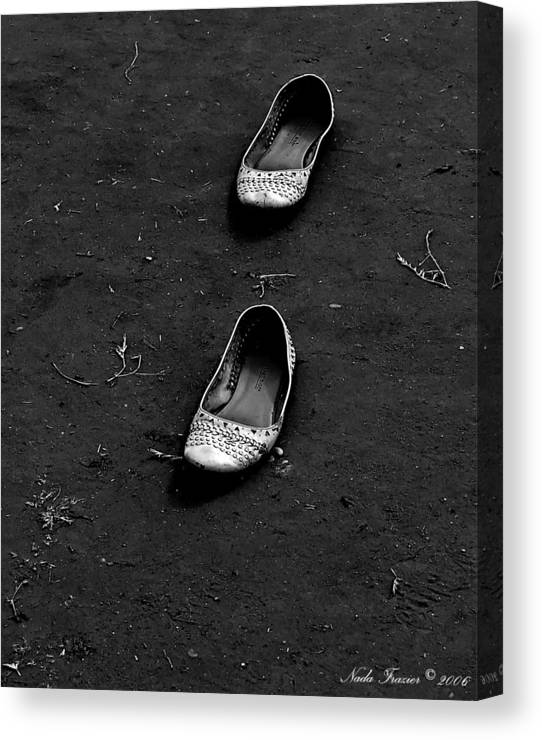 Shoes Canvas Print featuring the photograph Walk A Mile by Nada Frazier