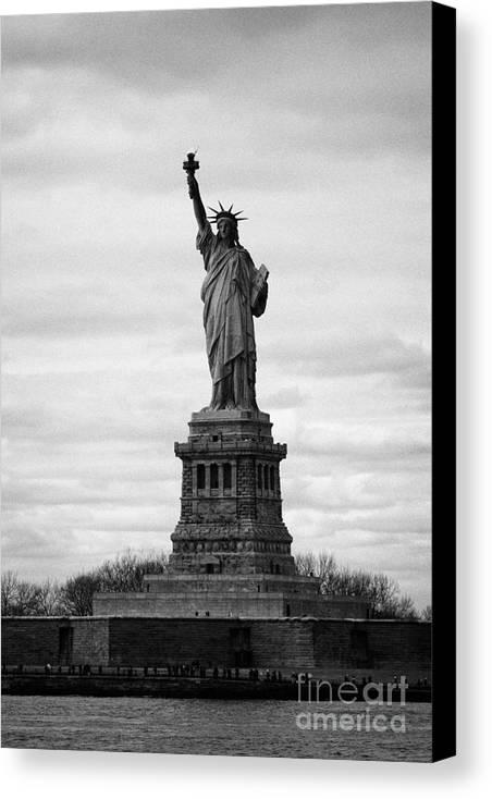 Usa Canvas Print featuring the photograph Statue Of Liberty Liberty Island New York City Usa by Joe Fox
