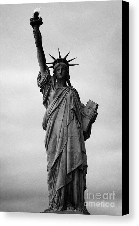 Usa Canvas Print featuring the photograph Statue Of Liberty National Monument Liberty Island New York City by Joe Fox