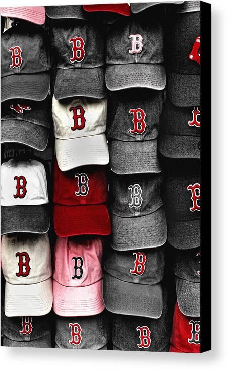 Boston Canvas Print featuring the photograph B For Bosox by Joann Vitali