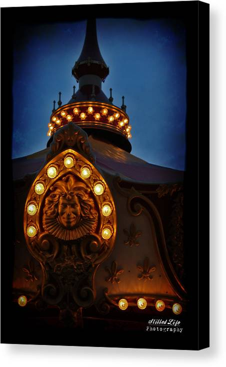 Carnival Canvas Print featuring the photograph Carnival At Night by A W Gifford