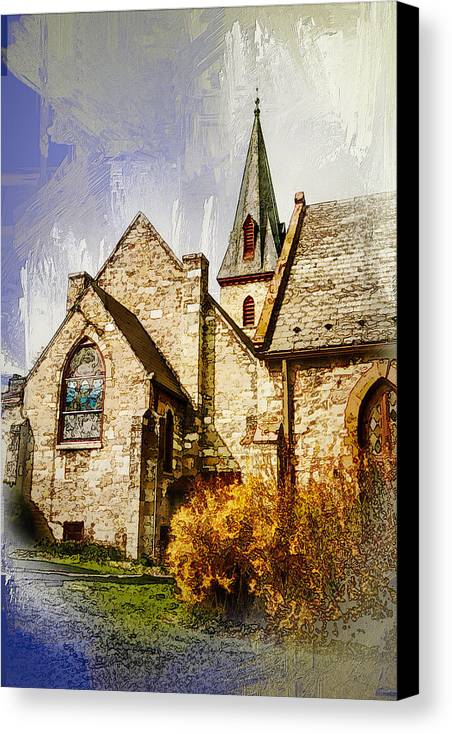Julia Springer Canvas Print featuring the photograph Golden Trinity by Julia Springer