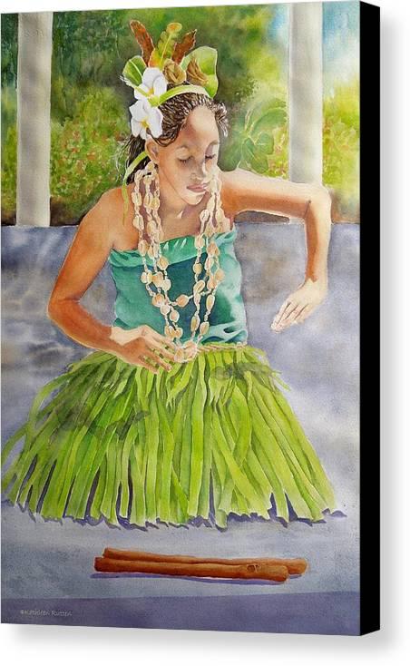 Tropical Dancer Canvas Print featuring the painting Island Rhythms by Kathleen Rutten
