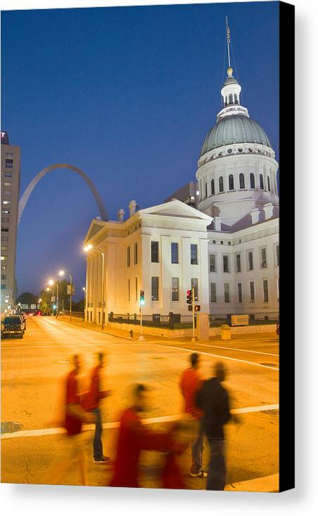 St Louis Canvas Print featuring the photograph Late To The Game by Garry McMichael