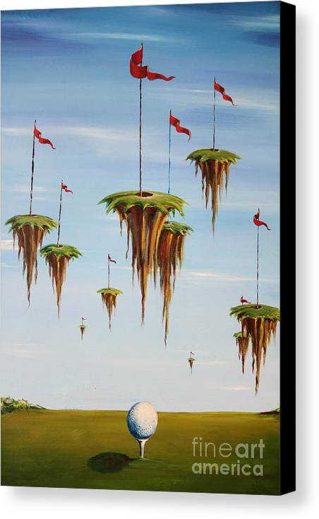 Surreal Canvas Print featuring the painting Ulitimate Course by Sandra Scheetz-Wise