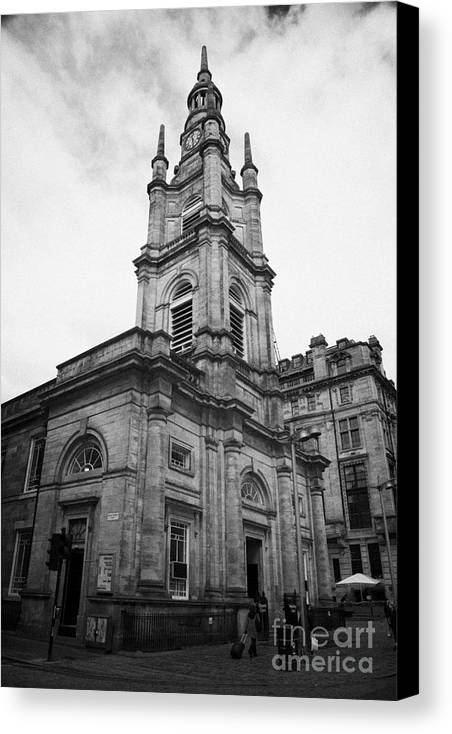 Saint Canvas Print featuring the photograph St Georges-tron Church Nelson Mandela Place Glasgow Scotland Uk by Joe Fox