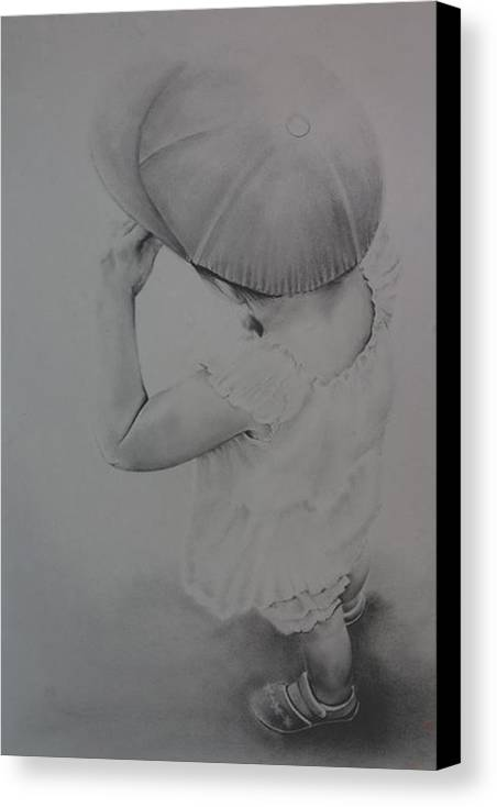 Children Canvas Print featuring the drawing This Way by John C