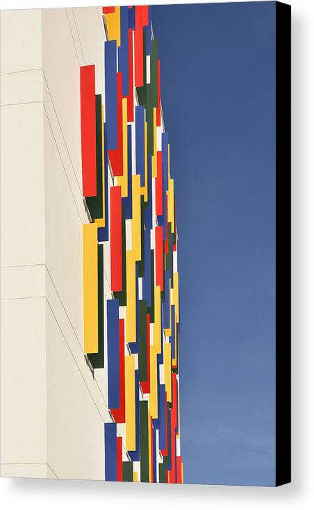 Colorful Canvas Print featuring the photograph Colorful House Abstract by Marek Stepan