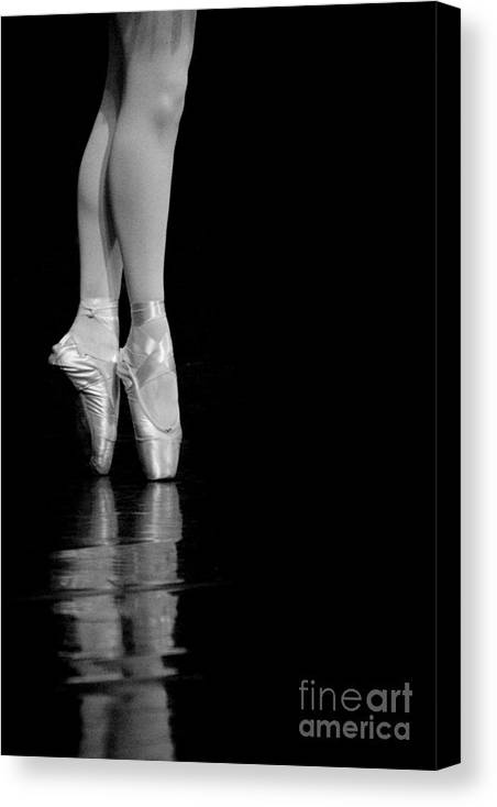 Pointe Canvas Print featuring the photograph En Pointe by Jeannie Burleson