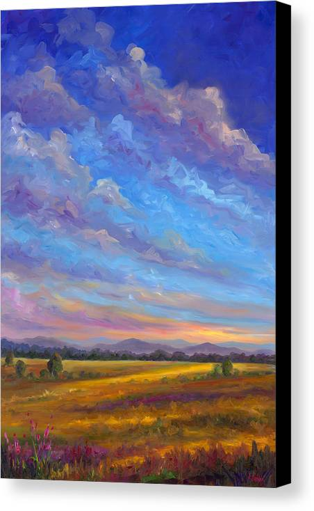 Field Canvas Print featuring the painting Field Of Flowers by Jeff Pittman