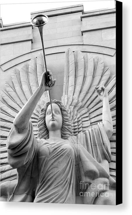 Angel Canvas Print featuring the photograph Herald Angel by Jeannie Burleson