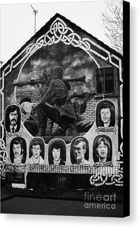 Belfast Canvas Print featuring the photograph Ira Wall Mural Belfast by Joe Fox