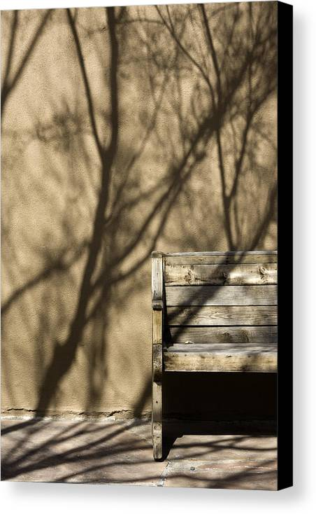 Photo Canvas Print featuring the photograph Old Bench by Carmo Correia