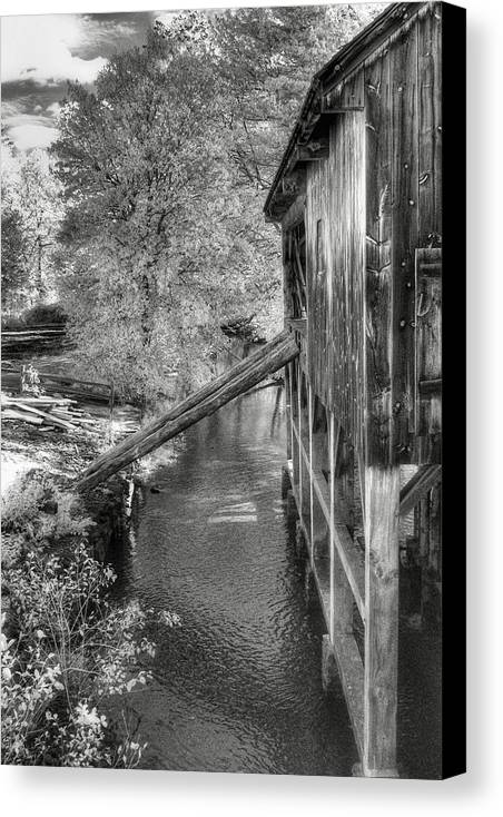 Old Mill Canvas Print featuring the photograph Old Grist Mill by Joann Vitali