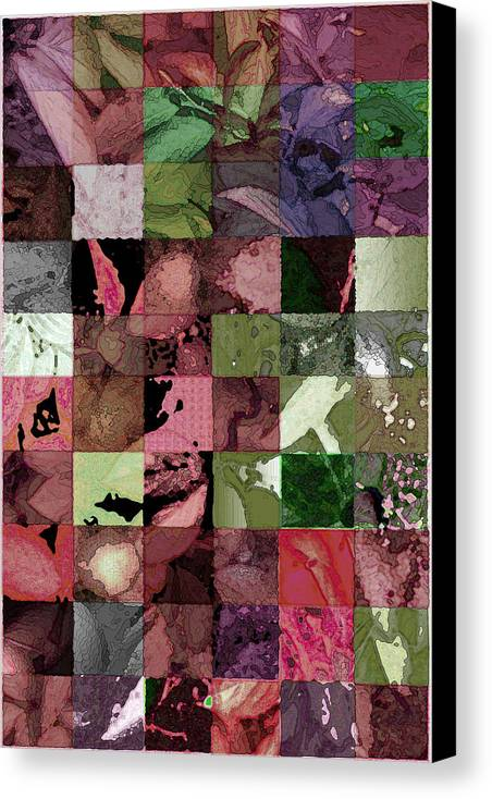 Abstract Canvas Print featuring the digital art Quilt by Tom Romeo