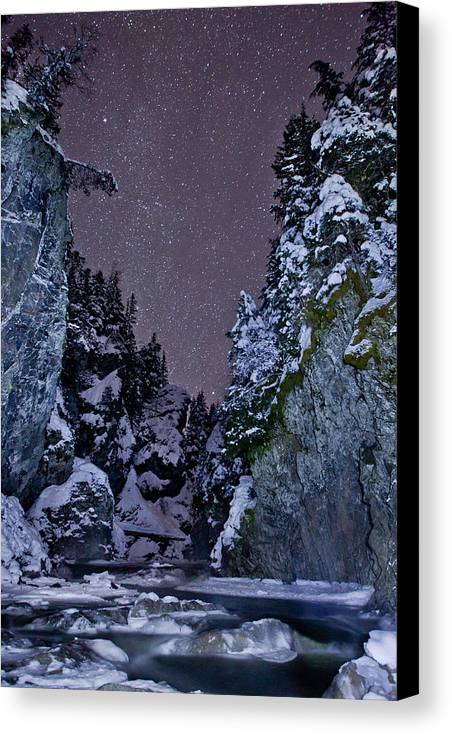 Stars Canvas Print featuring the photograph Starry Creek by Brandon Broderick