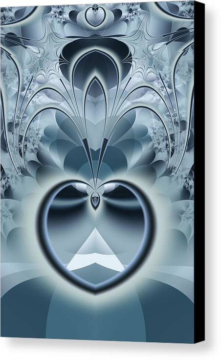 Fractal Canvas Print featuring the digital art Vision by Frederic Durville