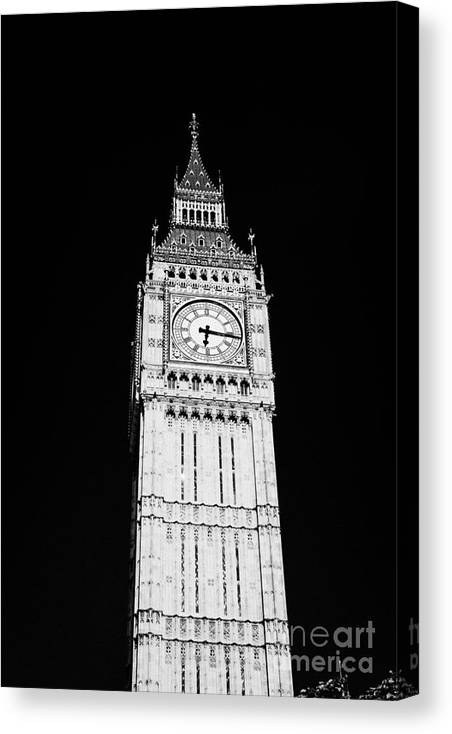 Big Ben Canvas Print featuring the photograph big ben elizabeth clock tower on the houses of parliament London England UK by Joe Fox