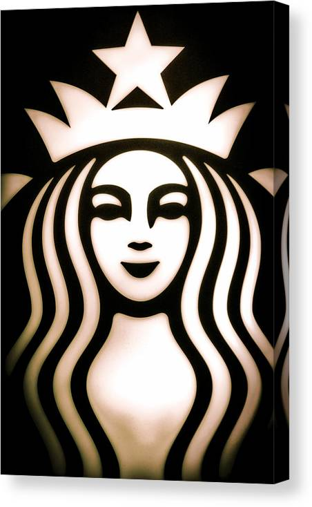 Starbucks Canvas Print featuring the photograph Coffee Queen by Spencer McDonald