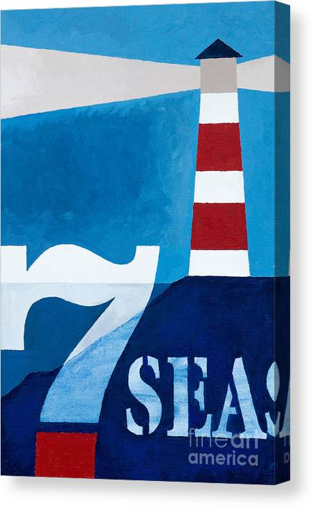 Seven Seas Canvas Print featuring the painting Seven Seas by Lutz Baar